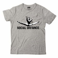 JCVD Social Distance Gray Tee