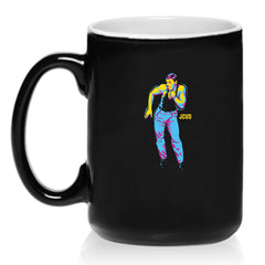 JCVD 15 oz. Dancing Black Coffee Mug