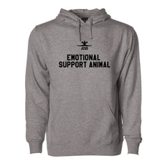 Emotional Support Animal Gray Pullover Hoodie