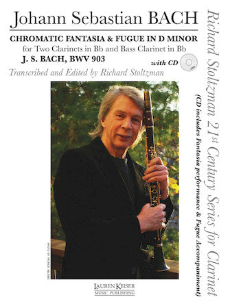 Chromatic Fantasy and Fugue - for Clarinet Trio or Solo Clarinet with CD
