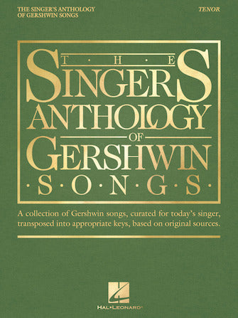 Gershwin - Singer's Anthology of Gershwin Songs