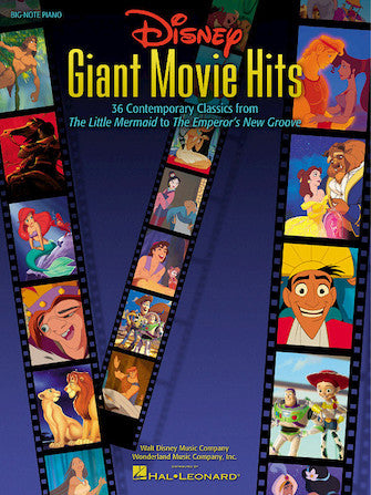 Disney Giant Movie Hits - Big-Note Piano