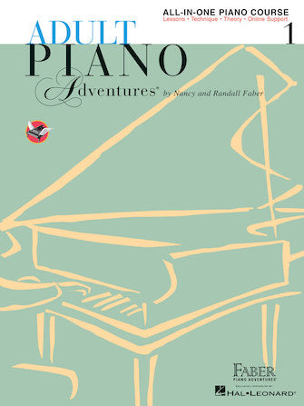 Faber Adult Piano Adventures All-in-One Piano Course Book 1 (Book with online media)