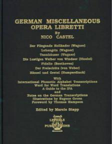 German Miscellaneous Opera Libretti