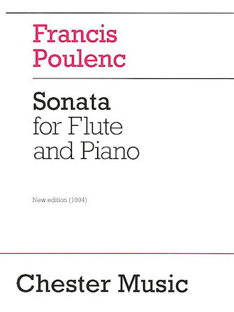 Poulenc Sonata for Flute and Piano Revised Edition, 1994