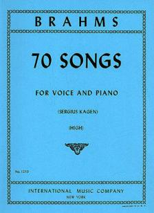 Brahms 70 Songs High Voice