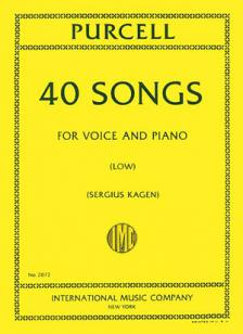 Purcell 40 Songs for Low Voice (Complete)