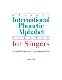 International Phonetic Alphabet for Singers