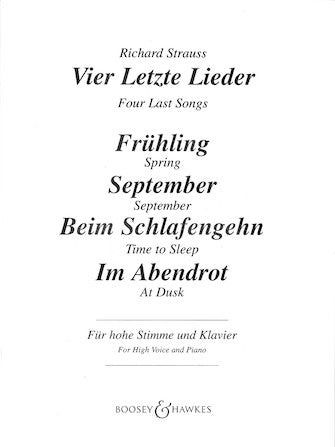 Vier Lezte Lieder (Four Last Songs)