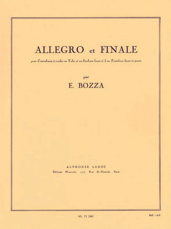 Bozza Allegro And Finale, For Double Bass, Tuba, Bass Saxhorn Or Bass Trombone