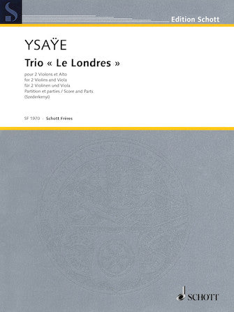 Trio le Londres   2 Violins And Viola  Score And Parts