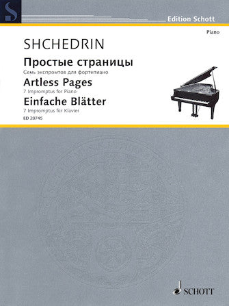 Artless Pages: 7 Impromptus For Piano Solo