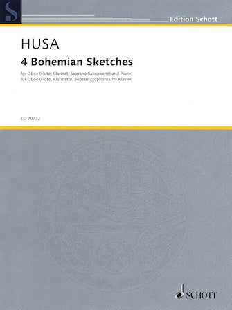 Husa 4 Bohemian Sketches for Oboe