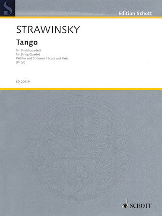 Stravinsky - Tango for String Quartet