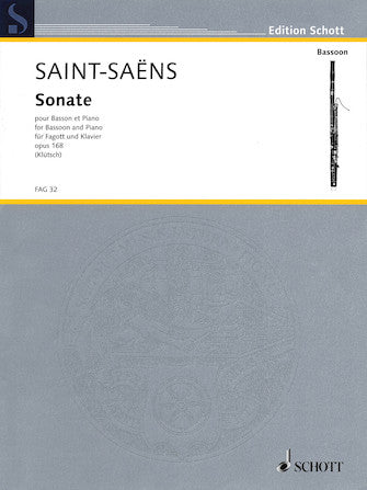 Saint-Saens Sonata Op. 168 For Bassoon And Piano