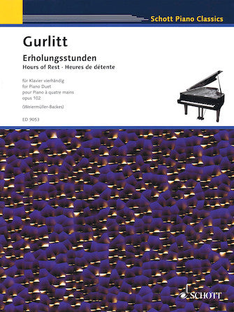Hours of Rest, Op. 102 -¦26 Pieces in All Major and Minor Keys for Piano Duet
