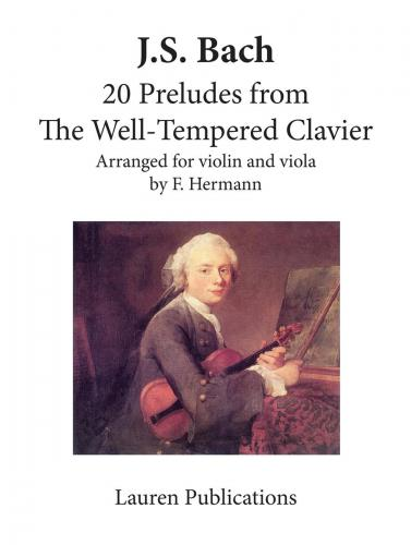 Bach 20 Preludes from The Well-Tempered Clavier Arr Violin and Viola