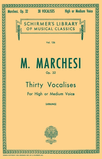 Marchesi 30 Vocalises, Op. 32