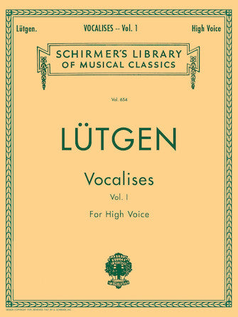 Lutgen Vocalises (20 Daily Exercises) - Book 1 High Voice