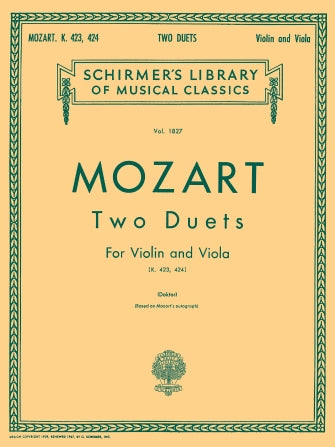 Two Duets, K. 423 and K. 424