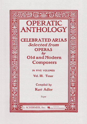 Operatic Anthology - Volume 3 Tenor