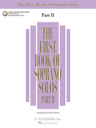 First Book of Soprano Solos, The - Part II