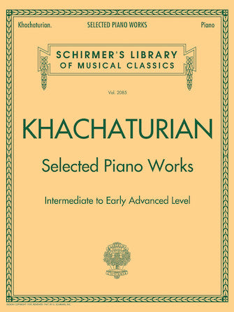 Khachaturian - Selected Piano Works - Schirmer Library