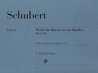Schubert Works for Piano Four-Hands Volume 3
