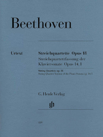 Beethoven String Quartets Opus 18 and String Quartet Version of Piano Sonata Opus 14 No 1