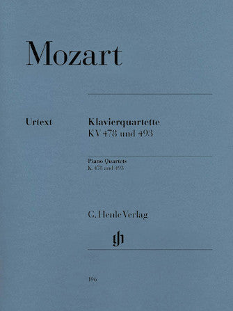 Mozart Piano Quartets K 478 and K 493