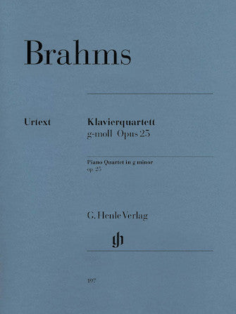 Brahms Piano Quartet in G minor Opus 25