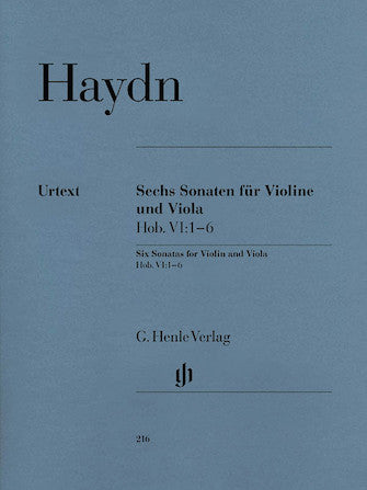 Haydn 6 Sonatas for Violin and Viola