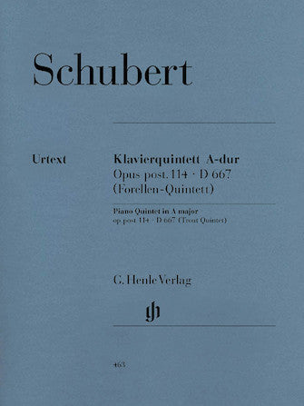 Schubert Quintet in A major Opus Posthumous 114 D 667 (Trout)