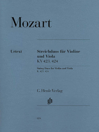 Mozart Duos for Violin and Viola K 423 and K 424