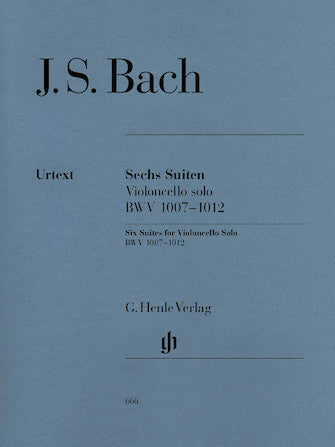 Bach 6 Suites for Violoncello Solo BWV 1007-1012