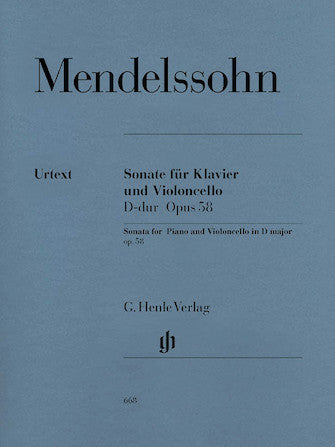 Mendelssohn Sonata for Piano and Violoncello in D major Opus 58