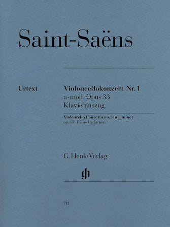Saint-Saens Concerto for Violoncello and Orchestra No 1 in A minor Opus 33