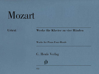 Mozart Works for Piano Four-Hands