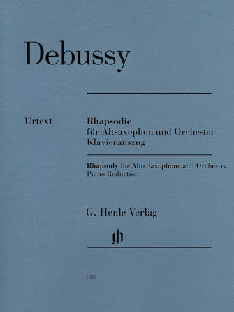 Debussy Rhapsody for Alto Saxophone and Orchestra