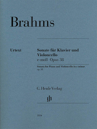 Brahms Violoncello Sonata in E minor Opus 38