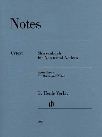Henle Notes - Sketchbook For Music And Notes 9x12 32 Pages 14 Stave Manuscript Pad