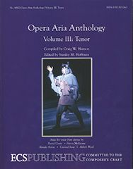 Opera Aria Anthology, Volume 3 (Tenor)