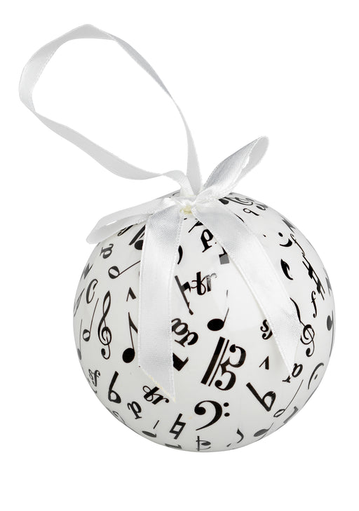 Music Symbols Ball Ornament