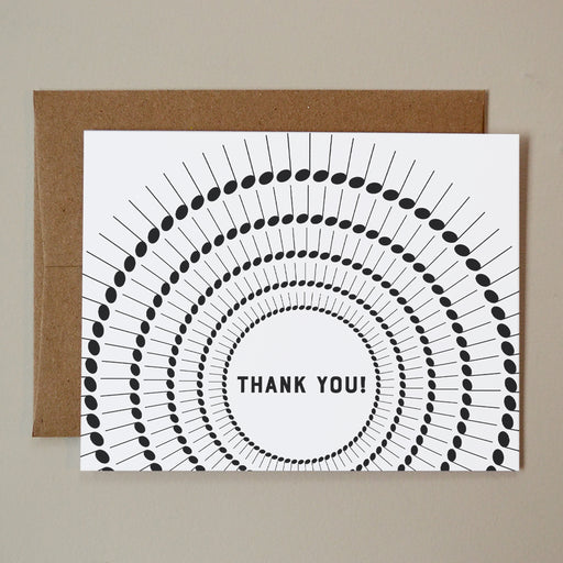 Thank You Note Spiral Card