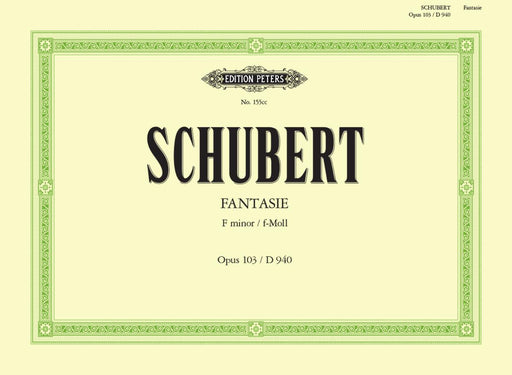 Schubert Fantasia in F minor Op. 103 D940