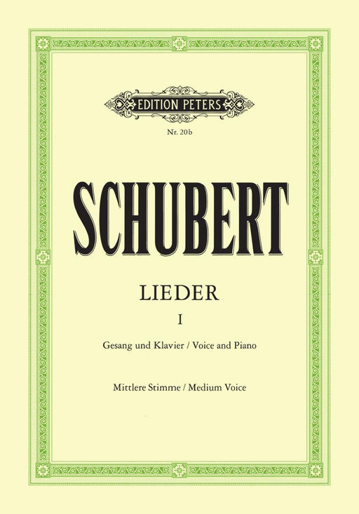 Schubert Songs Volume 1: 92 Songs Medium Voice