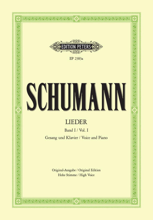 Schumann Complete Songs Vol. 1: 77 Songs High Voice