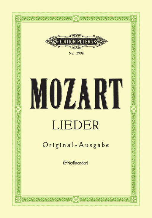 Mozart Album of 29 Songs High Voice