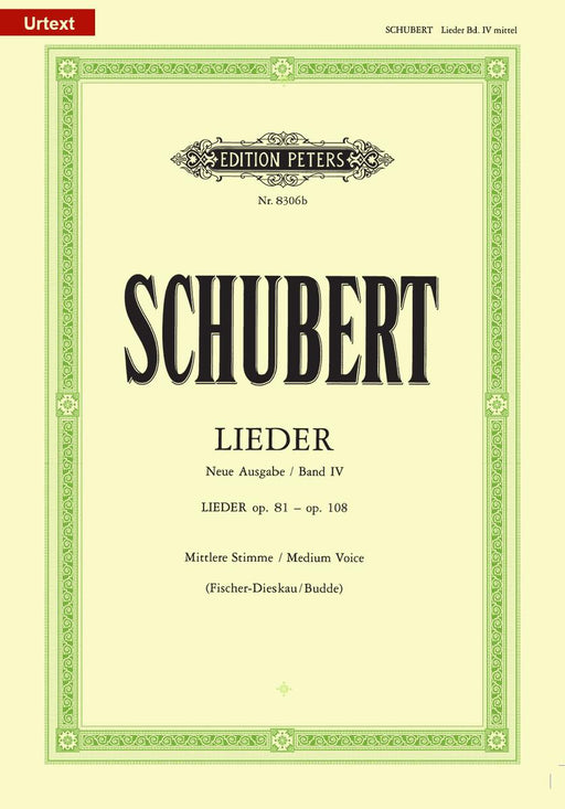 Schubert Songs Vol. 4: 45 Songs Medium Voice