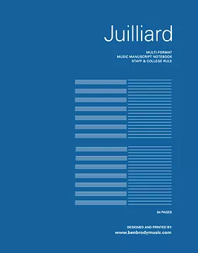 Juilliard Multi Format Manuscript Notebook